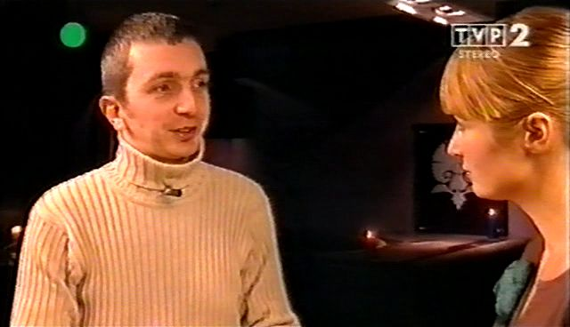 Artur Swiech in TVP2 with Joanna Brodzik, April 2007